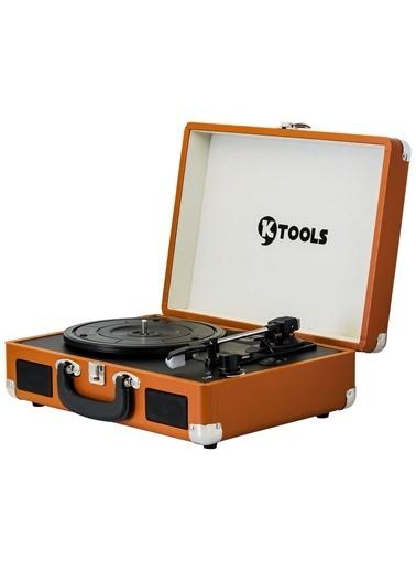 KTOOLS Ktools Nostalgie K344 Kahverengi Bluetoothlu Çanta Pikap Renkli
